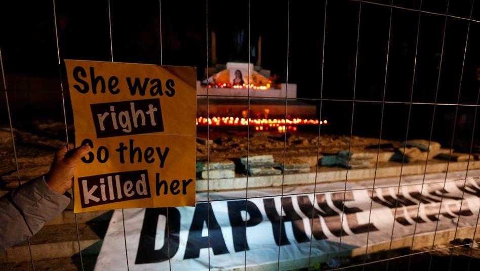 Gedänkstätte für Daphne Caruana Galizia