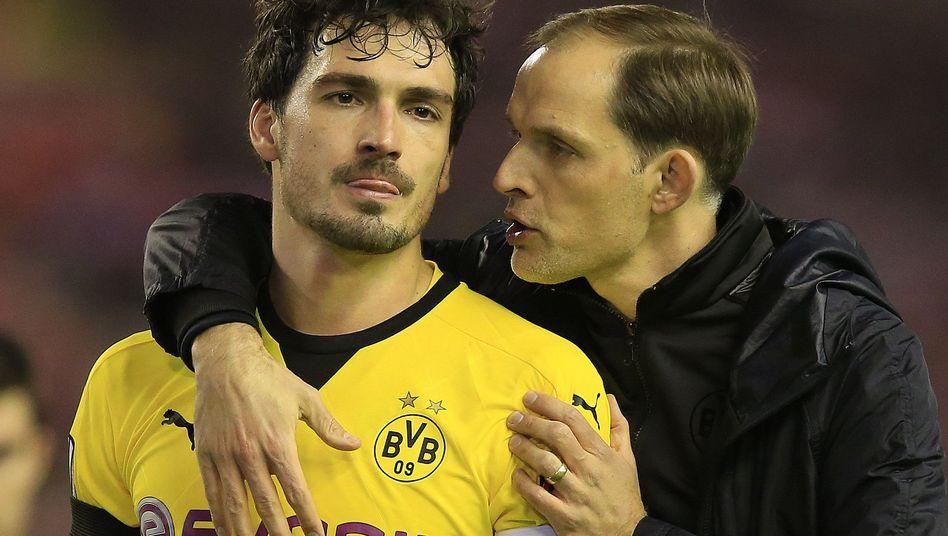 Mats Hummels (l.) und Thomas Tuchel (r.)