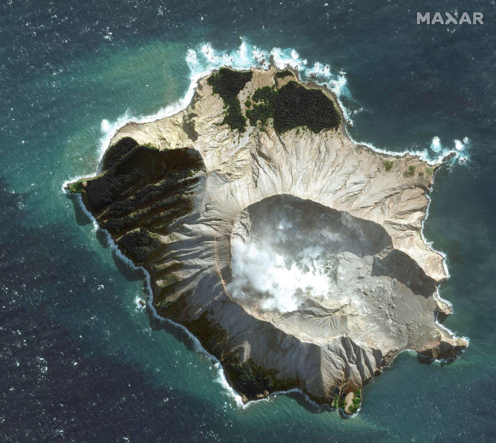 Vulkanausbruch/ white island/ Neuseeland