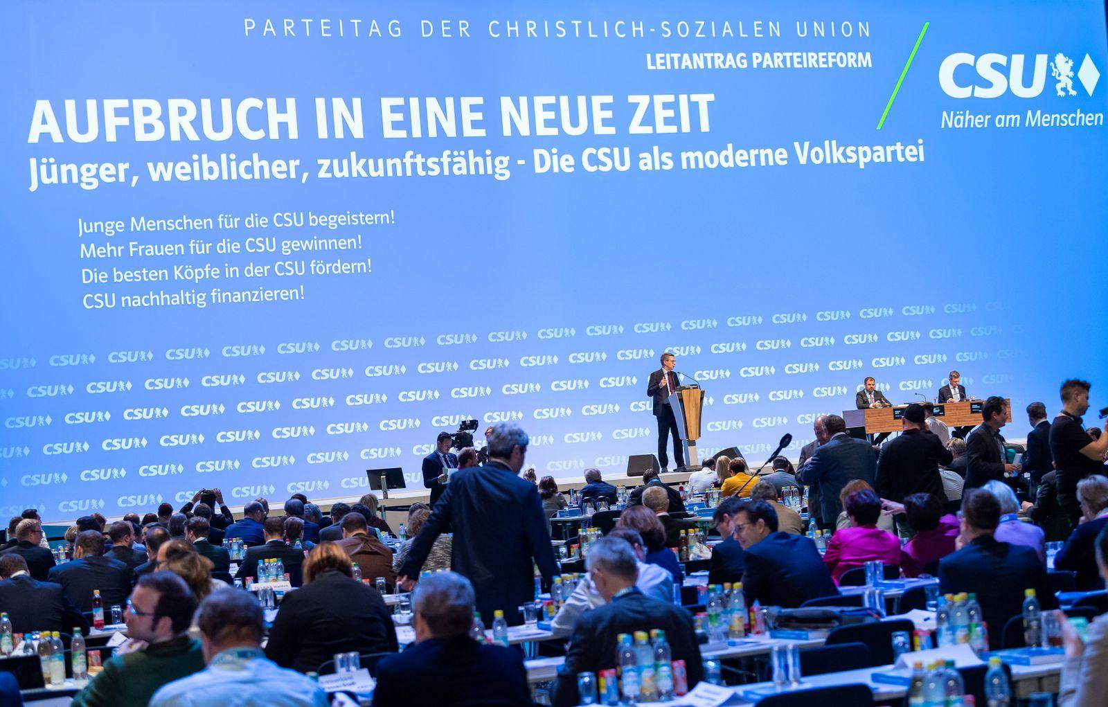 CSU/ Parteitag/ 2019
