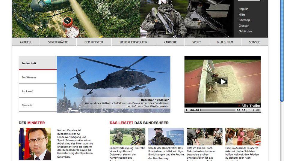 """Bundesheer-Homepage: """"Absolut niveaulos und peinlich"""""""