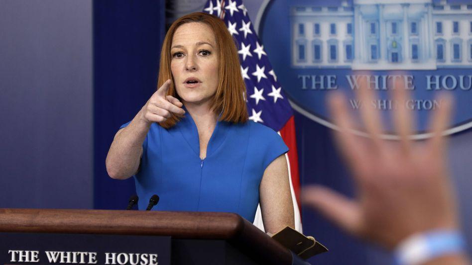 Sprecherin Jen Psaki im Weißen Haus
