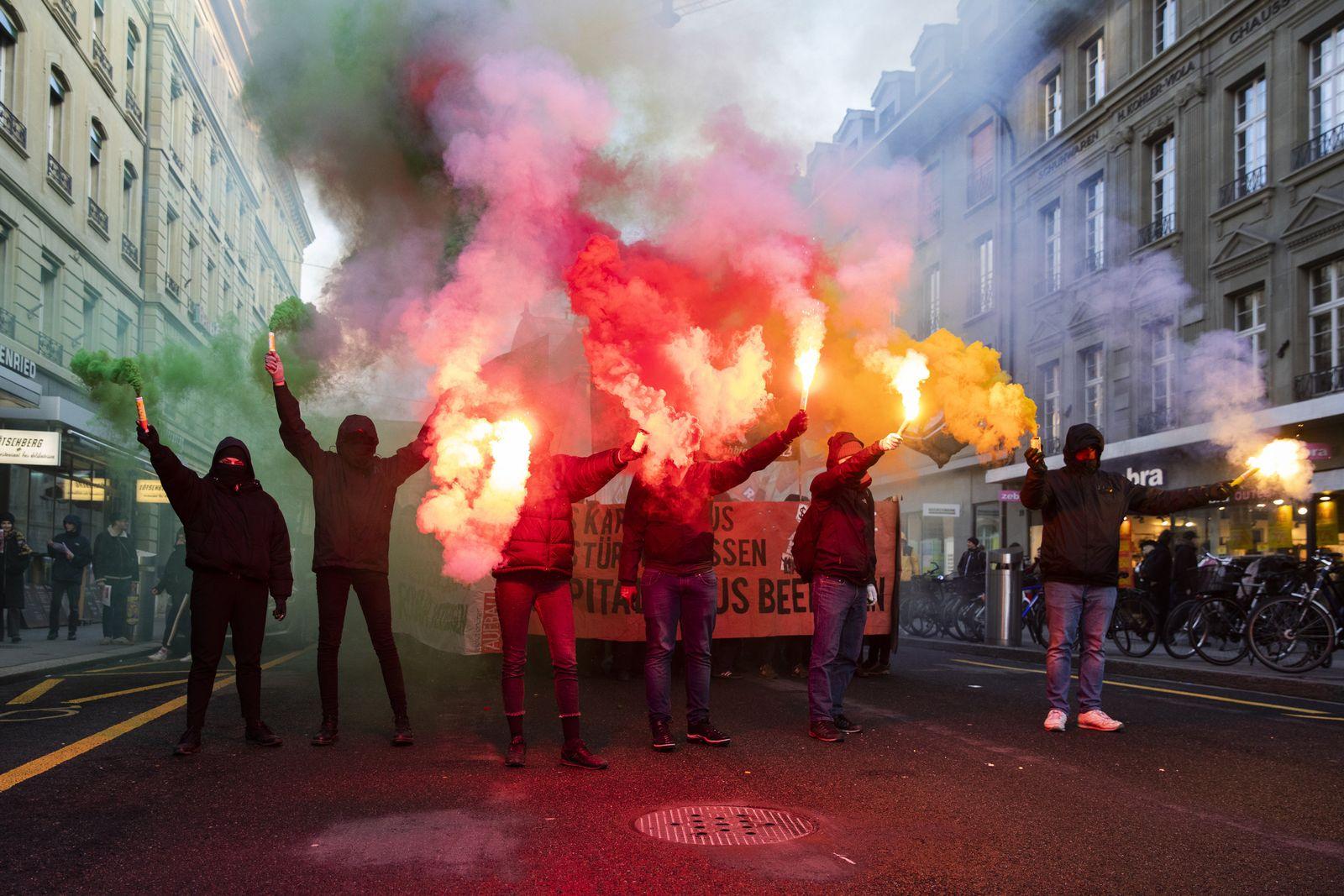 Switzerland Anti World Economic Forum Protest