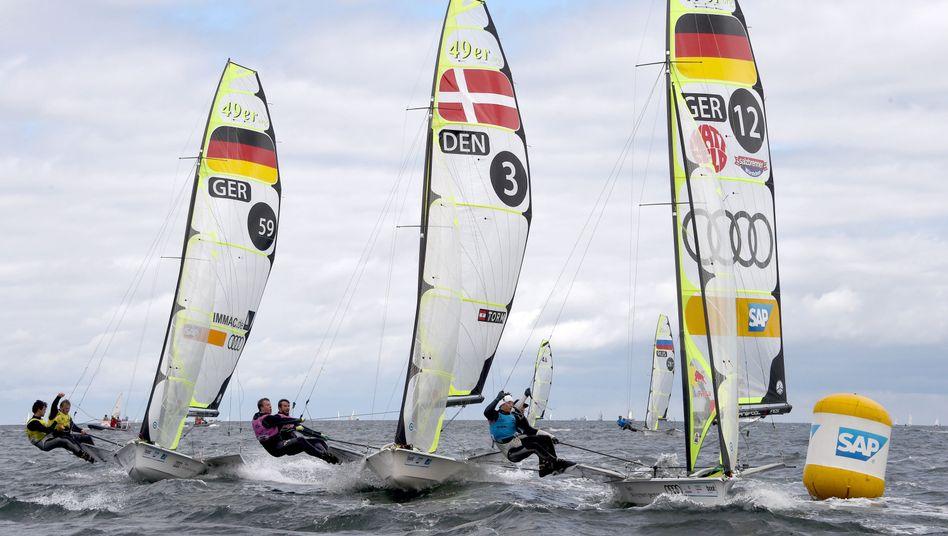 Segelwettbewerbe in Kiel: Fernab des großen Rummels