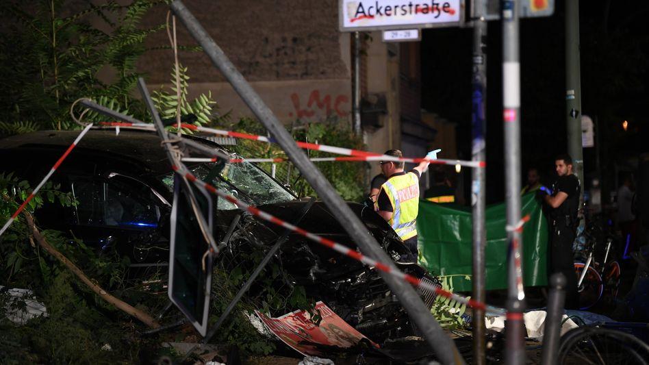 Unfallort in Berlin im September 2019