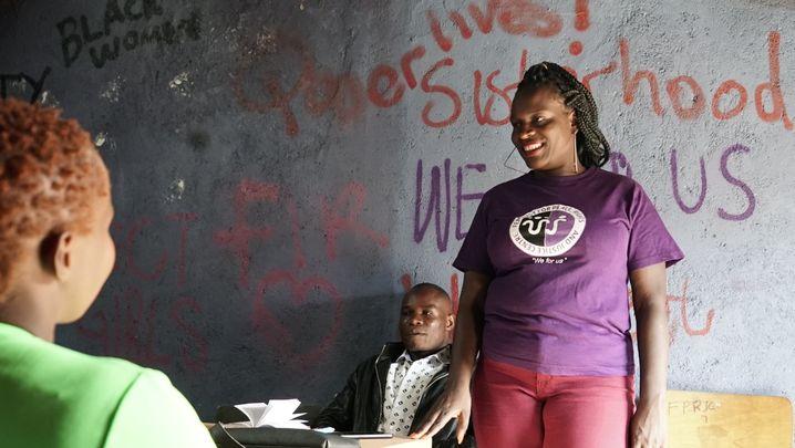 Editar Ochieng aus Kenia lässt sich nicht einschüchtern