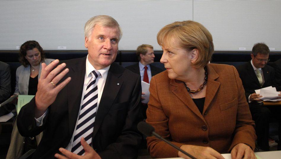 CSU-Chef Seehofer, Kanzlerin Merkel: Dissonanzen in der Afghanistan-Frage