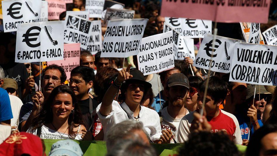 Proteste in Spanien: Die Widerstände gegen die europäische Integration wachsen