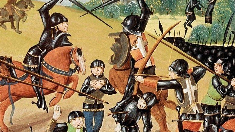 In der Schlacht bei Azincourt 1415 ließ der englische König die Gefangenen umbringen (zeitgenössische Illustration).