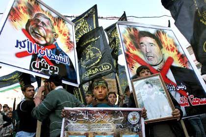 Proteste in Gaza-Stadt: Dänemarks Premier Anders Fogh Rasmussen als neues Feindbild