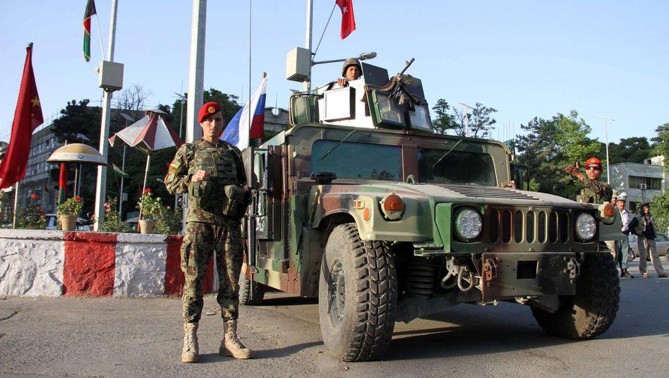 Soldaten in Kabul: Höchste Sicherheitsstufe vor dem Ministertreffen