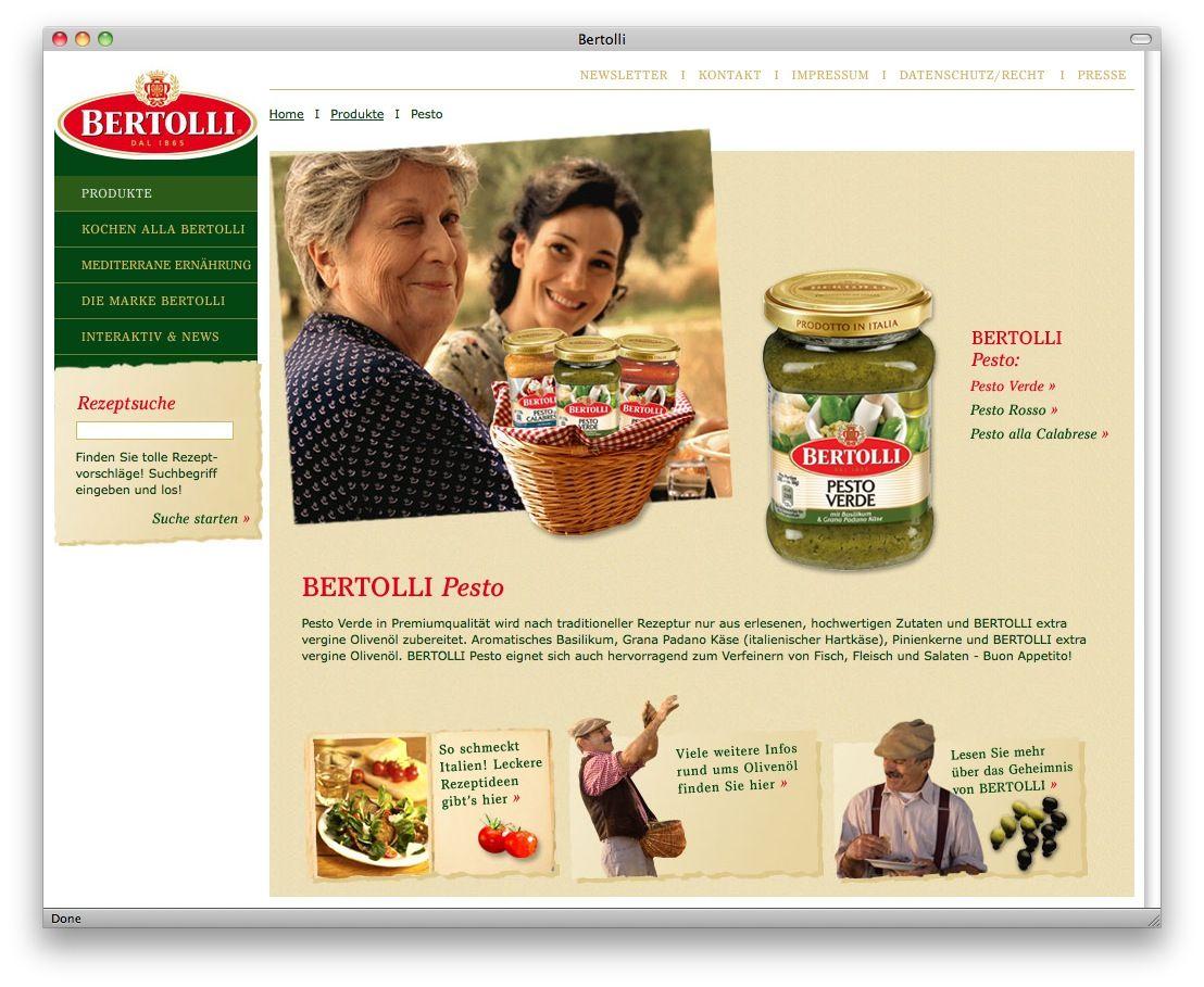 Bertolli-Pesto Screenshot