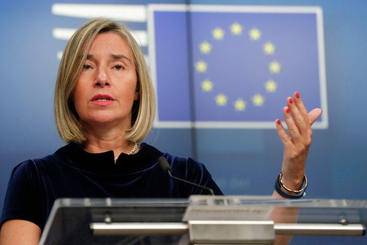 EU-Außenbeauftrage Federic Mogherini zeigte sich besorgt