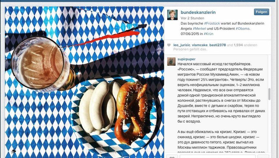 Social-Media-Präsenz der Bundeskanzlerin: Merkels Instagram-Account wurde von russischen Trollen gekapert