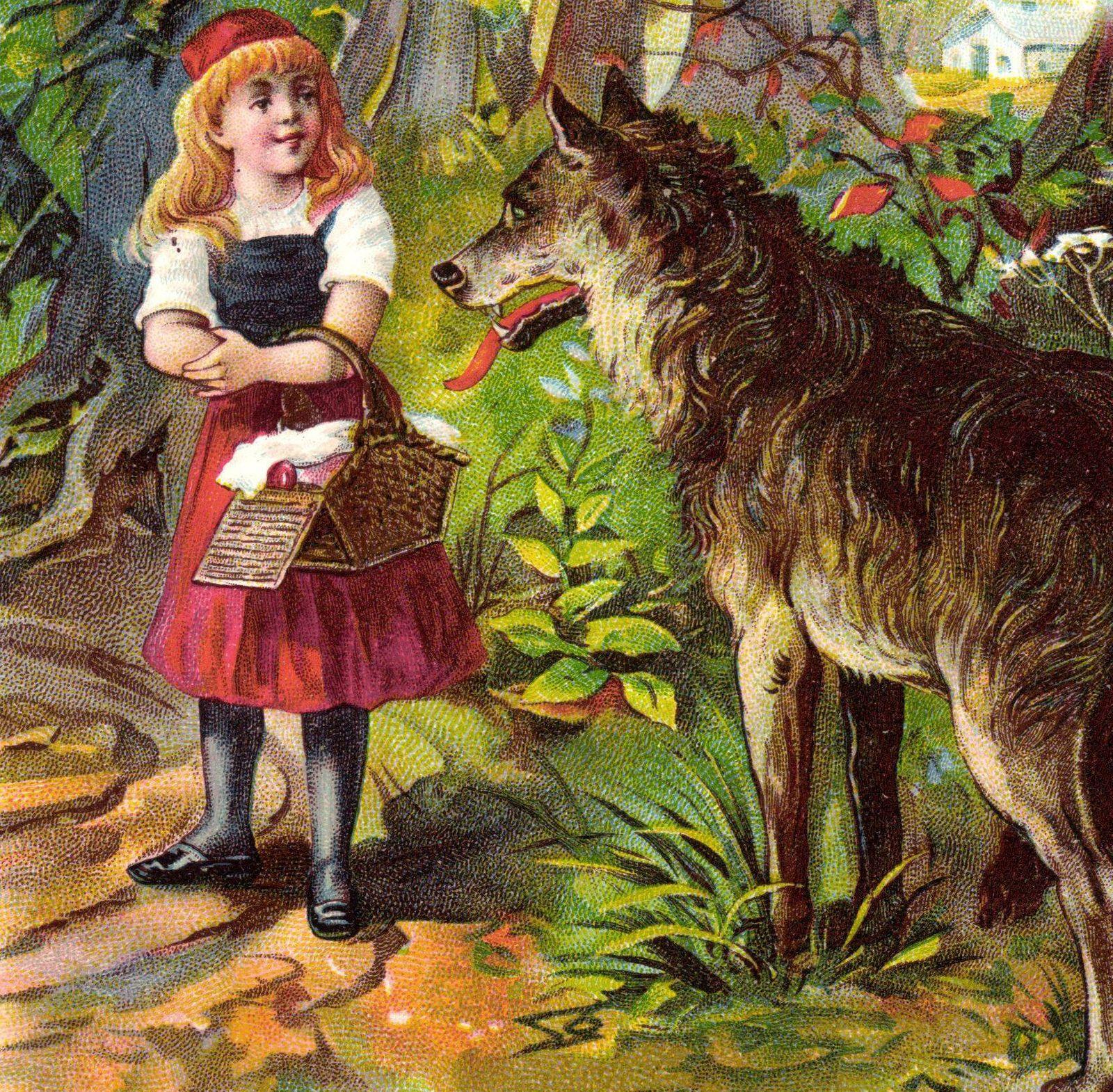 Rotk‰ppchen Br¸der Grimm M‰rchen Bˆser Wolf AUFNAHMEDATUM GESCHƒTZT