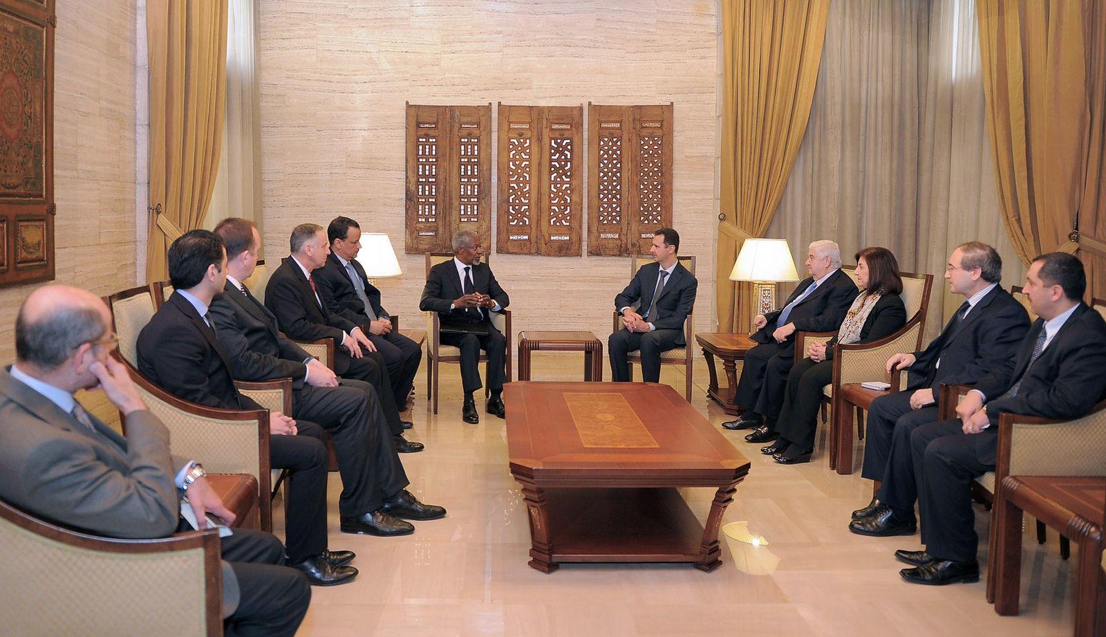 Syrien/ Annan/ Assad