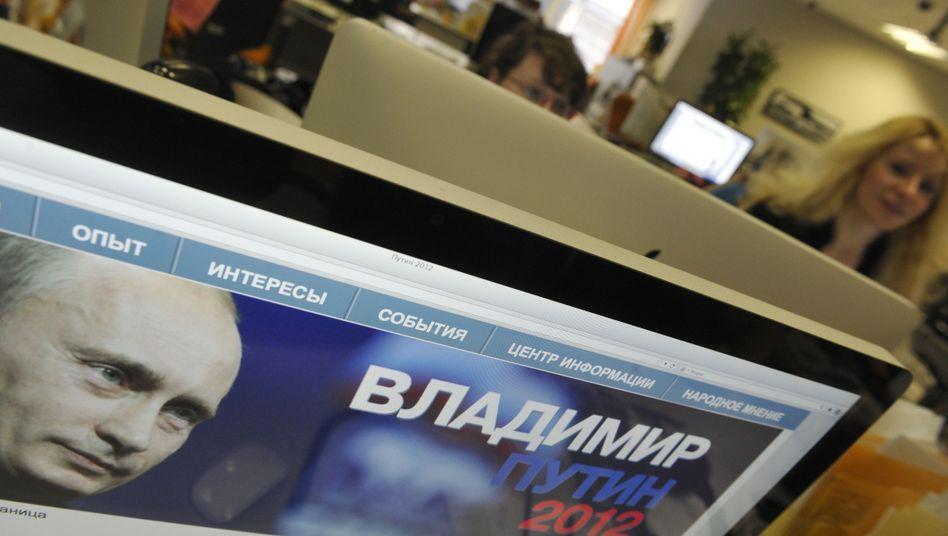 """Wahlkampf-Webseite von Wladimir Putin: """"Wie ein Messer in der Hand eines Verbrechers"""""""