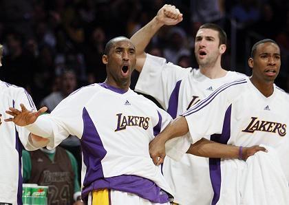 Jubelnde Lakers-Profis: 70-jährige Erfolgsgeschichte