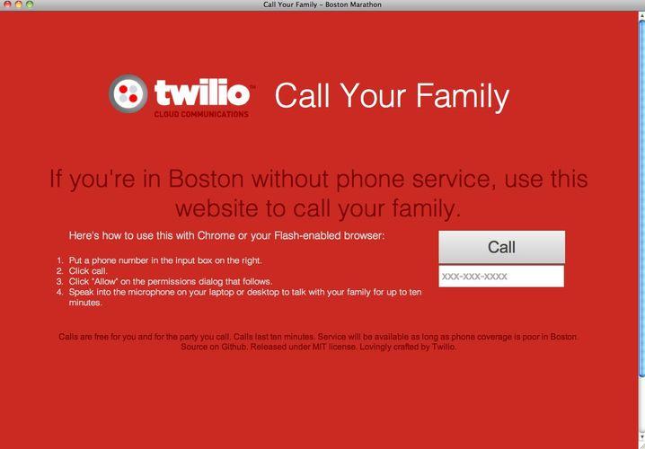 Call Your Family: Kostenlose Webanrufe aus Boston
