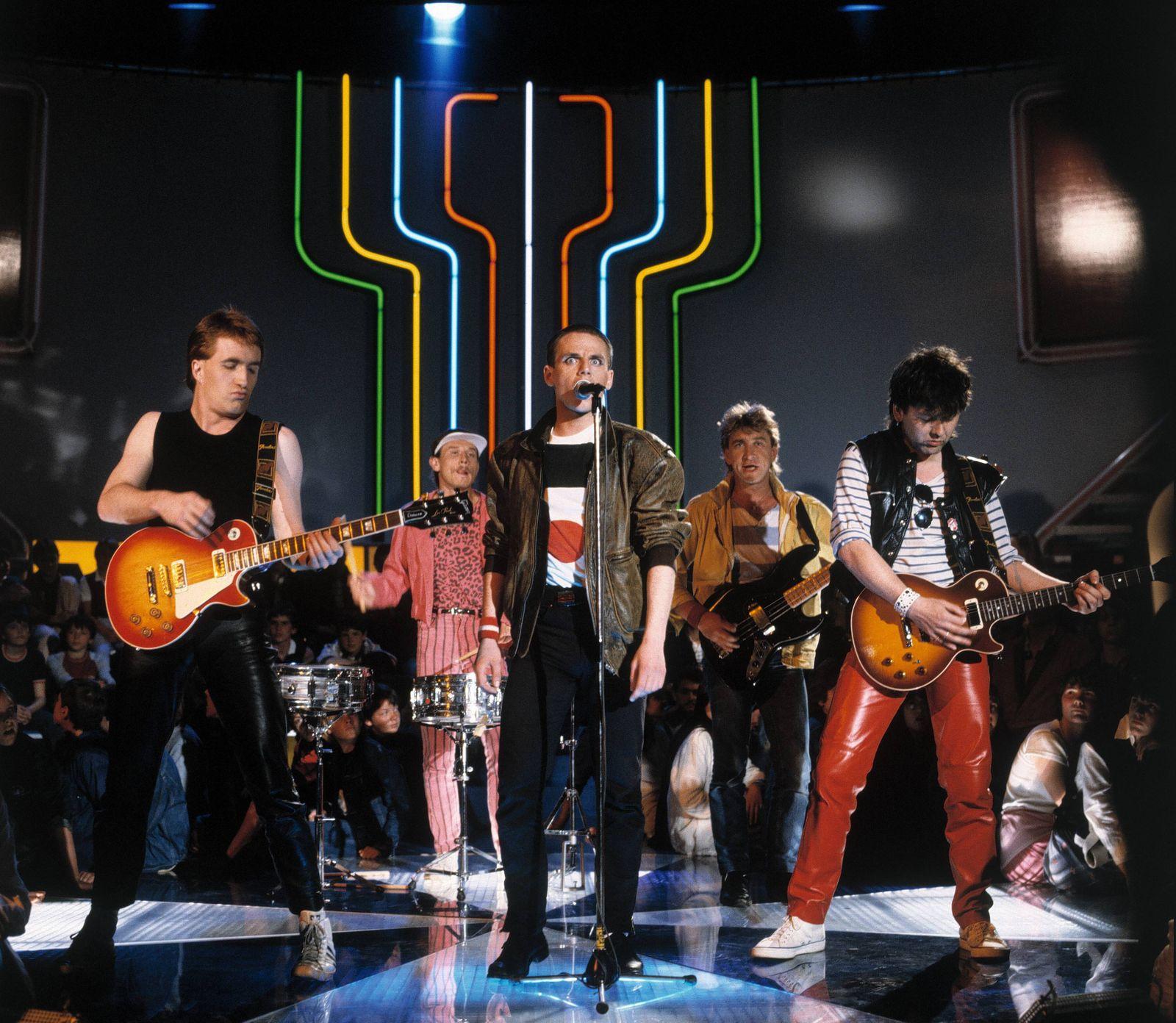 EXTRABREIT EXTRABREIT Musikgruppe Neue Deutsche Welle 1982 Musik Gruppe Rock Neue Deutsch
