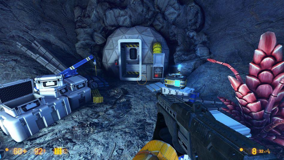 """Szene aus """"Black Mesa"""": Die Alienwelt Xen, atmosphärisch wie nie"""