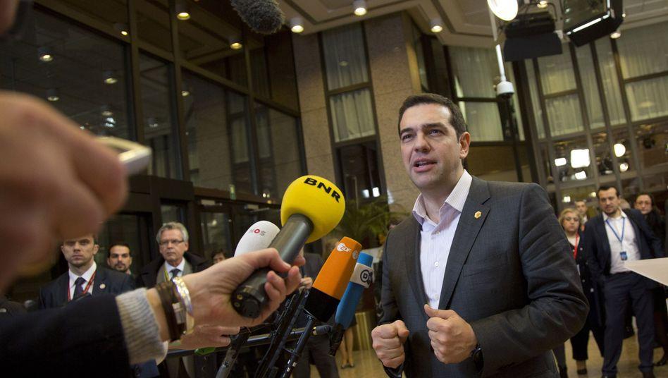 Alexis Tsipras in Brüssel am Freitag: Scharfe Töne vor dem Besuch in Berlin