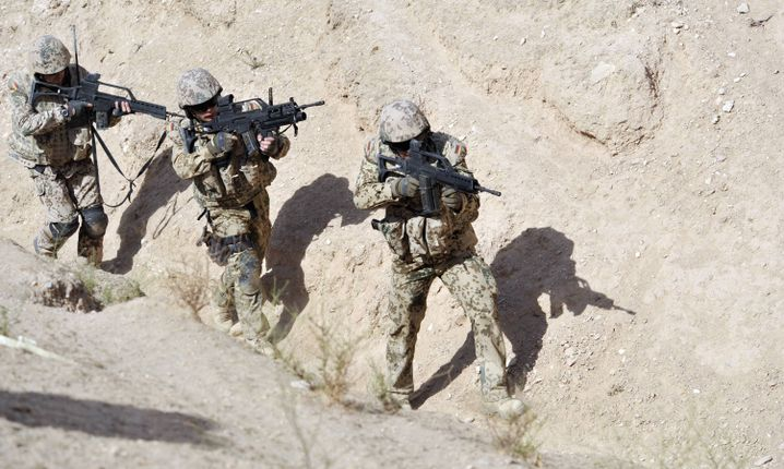 "German Bundeswehr soldiers in northern Afghanistan: There may be an ""Afghan face"" to the new mission, but the Germans are also getting more assertive."