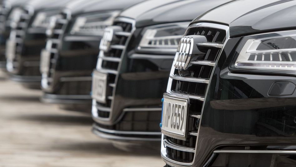 Audi-Fahrzeuge.
