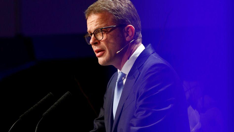 Christian Sewing, blau wie die Deutsche Bank (Archivfoto)