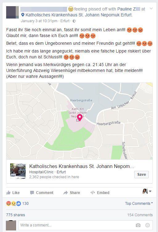 NUR ALS ZITAT Screenshot Facebook/ Fake News