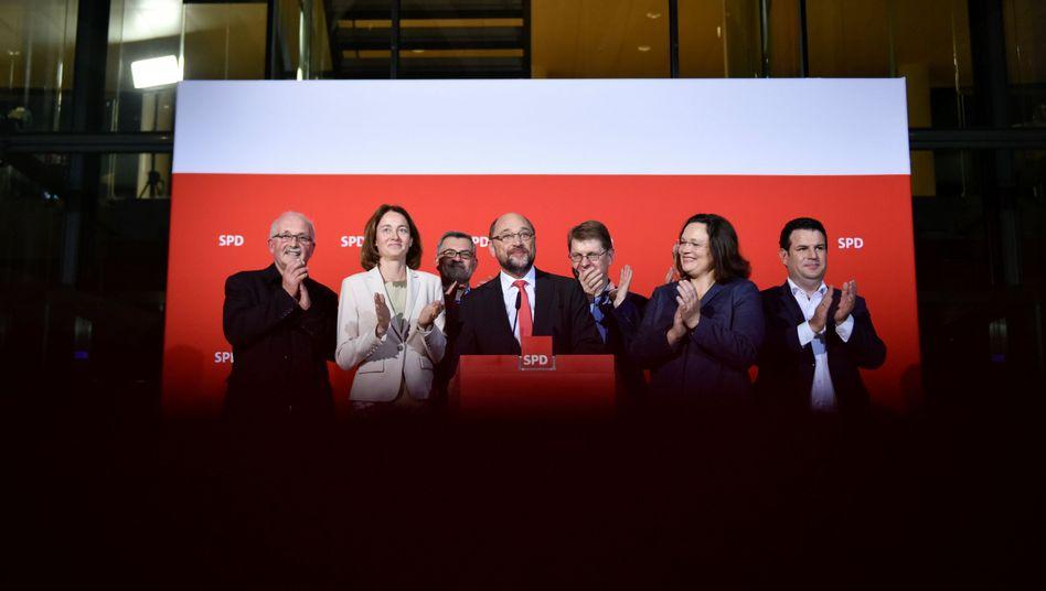 SPD-Spitze in Berlin nach der Niedersachsen-Wahl