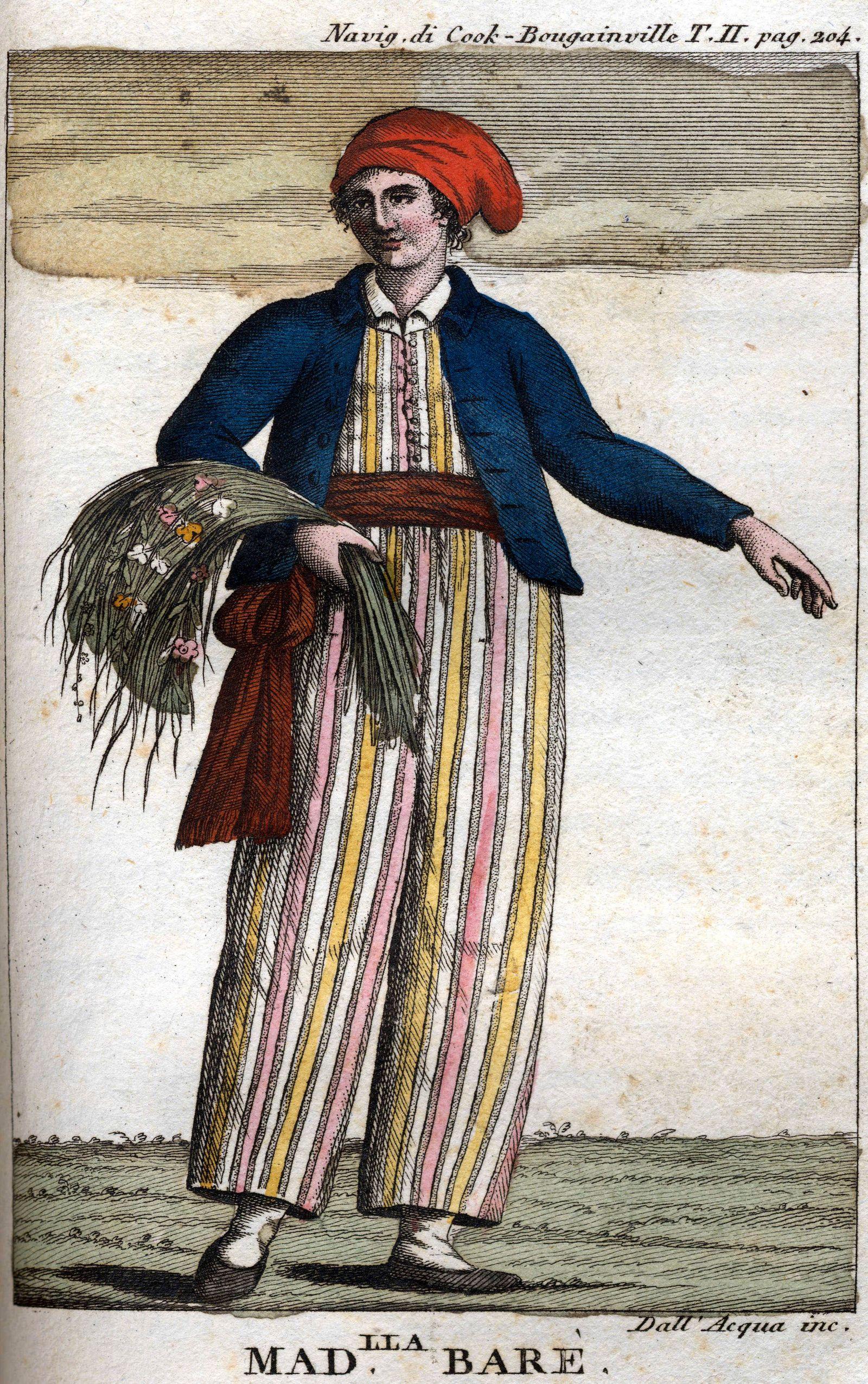 portrait de Jeanne Barret parfois ecrit Bare ou Baret Aventuriere francaise 1740 1807 gravure in