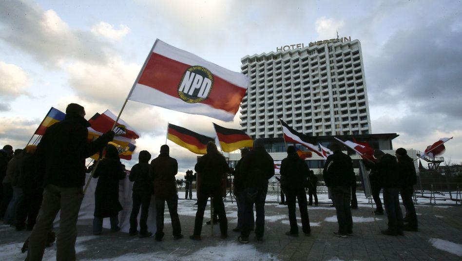 Demonstration der NPD: Innenminister votieren für Verbot der extremen Rechten