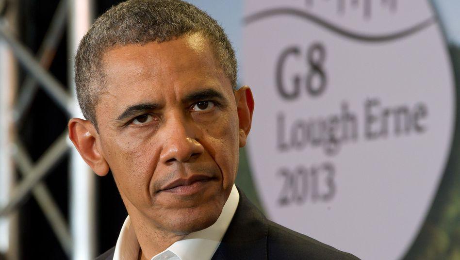 Obama im G-8-Tagungsort Lough Erne: Kühler Empfang
