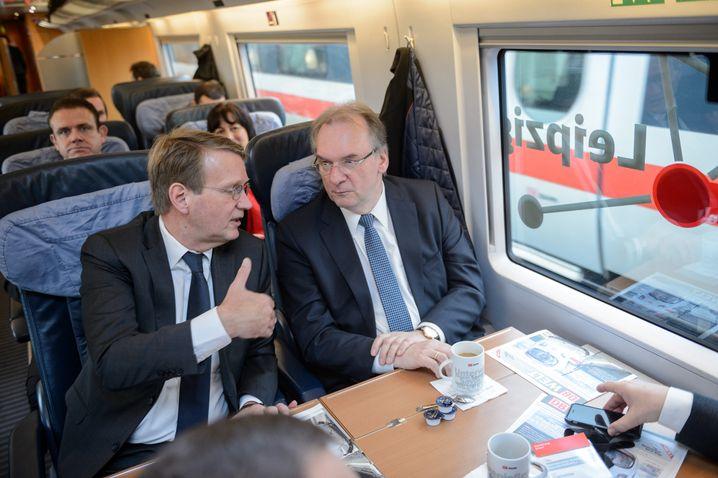 Mit Sachsen-Anhalts Ministerpräsident Haseloff