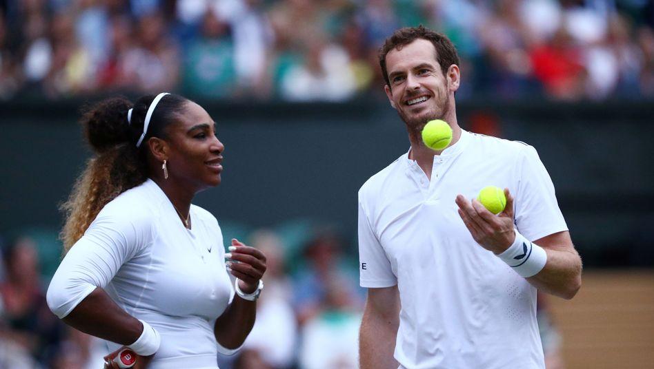 Gute Laune bei Serena Williams und Andy Murray