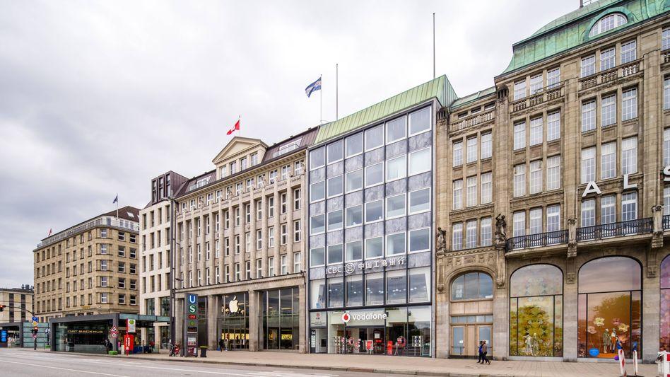 Leere Einkaufsstraßen in Hamburg