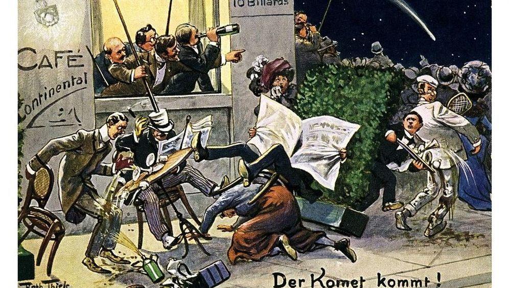 Euphorie und Panik: Postkarten vom Weltuntergang