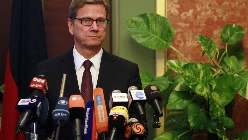 Außenminister Westerwelle in Kairo (am 1. August): Kritik zum Abschluss der Nahost-Reise