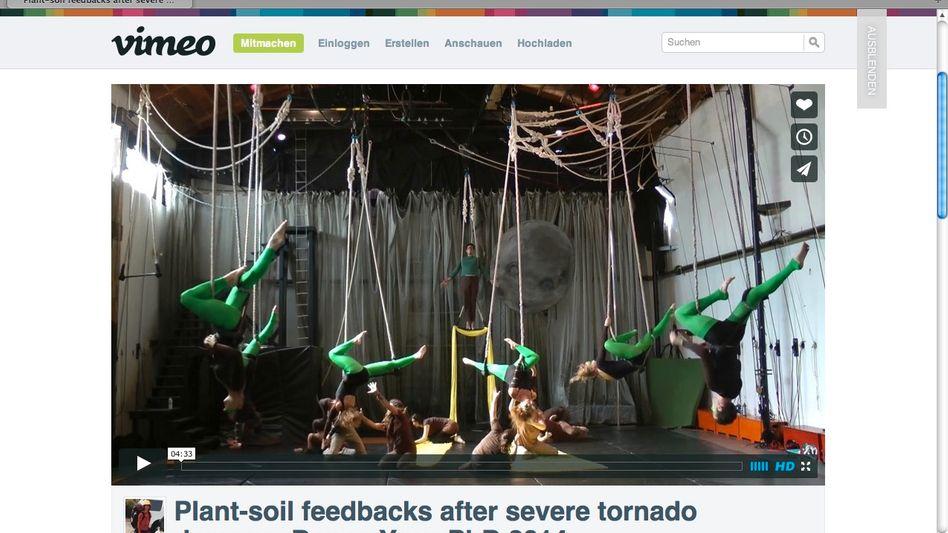 Dance your PhD!: Szene aus dem Gewinnervideo von Uma Nagendra - Baumsetzlinge im Sturm
