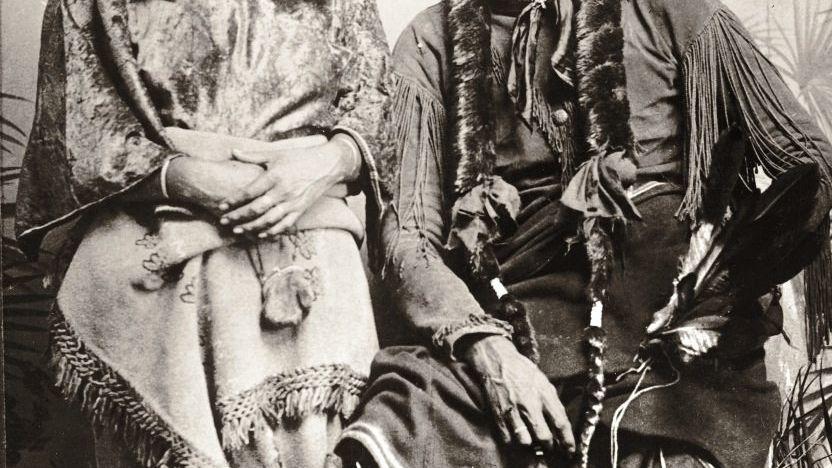 Komantsche Quanah Parker, Gattin 1875 Kriegsführer in Gefangenschaft