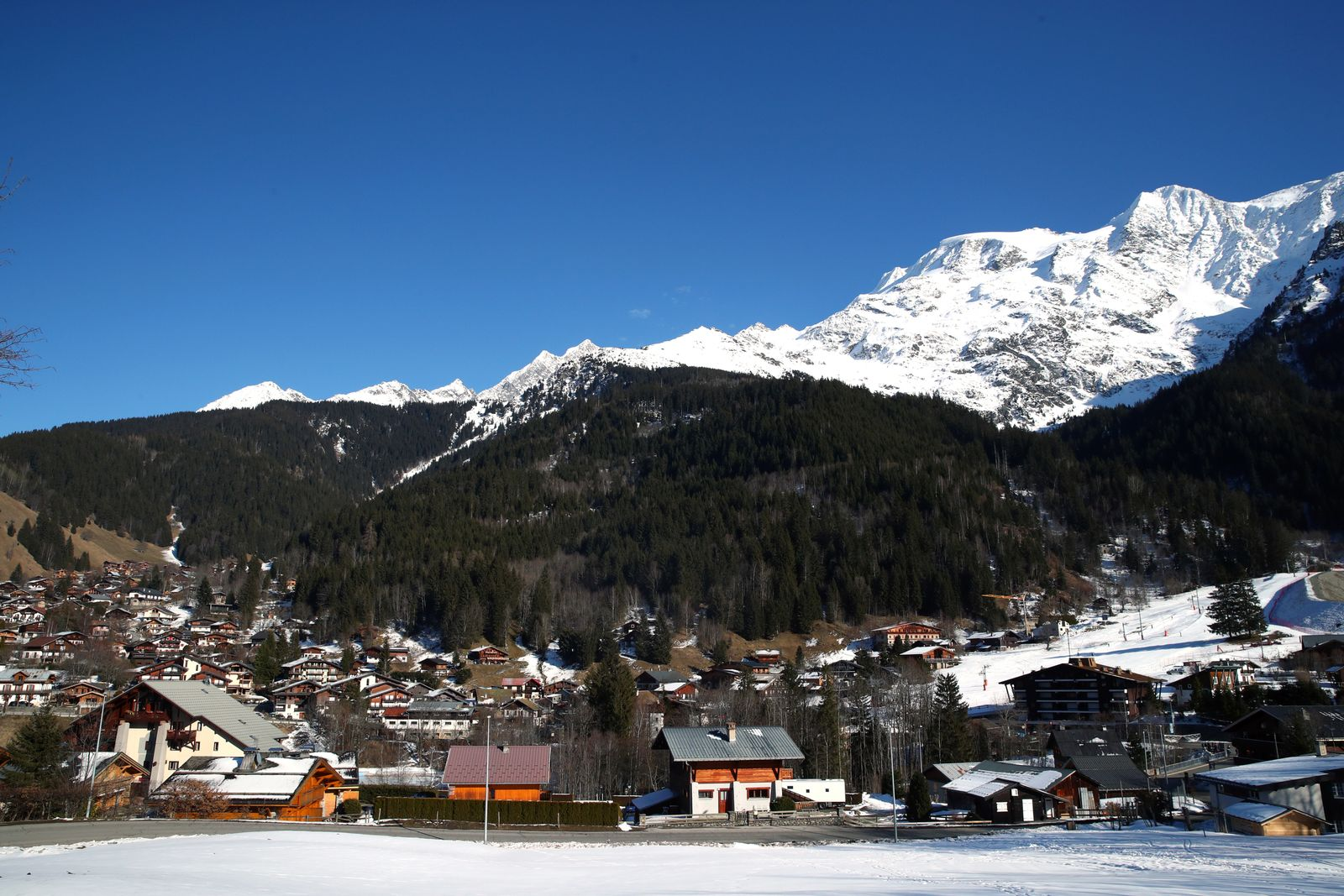 Five British nationals including a child diagnosed with the coronavirus at the French Alpine resort of Les Contamines-Montjoie
