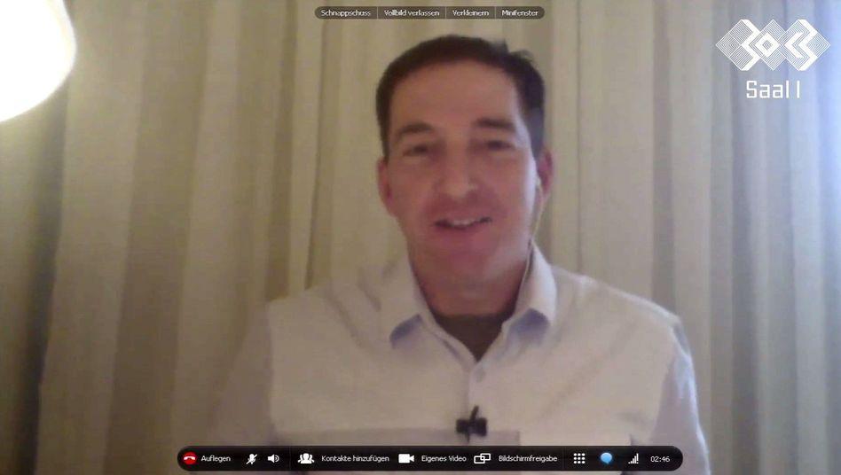 Greenwald im Skype-Chat: Ansprache an Tausende Hacker in Hamburg