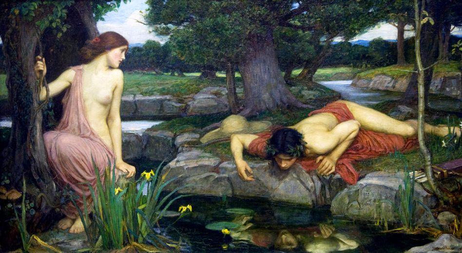 """Waterhouse-Gemälde """"Echo and Narcissus"""" (Ausschnitt)"""