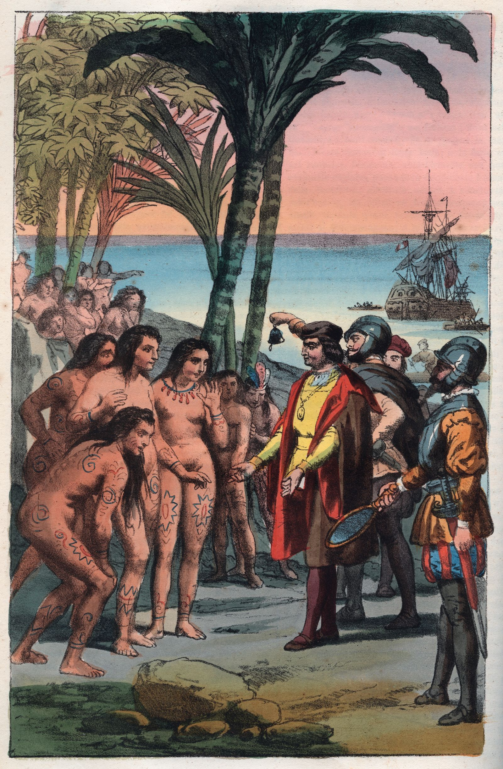 The landing of Christopher Columbus