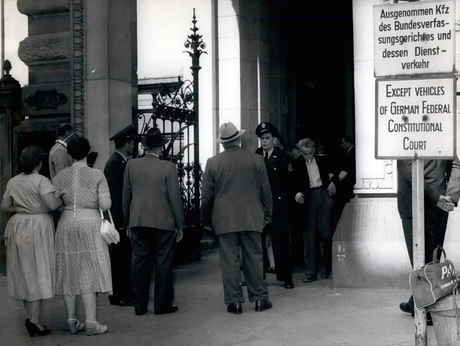 Aug 08 1956 German Communist Party Prohibited ââ?¬âÄ? Our photo shows a group of people trying