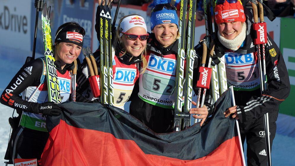 Biathlon-WM: Gold-Jubel trotz Neuner-Patzer