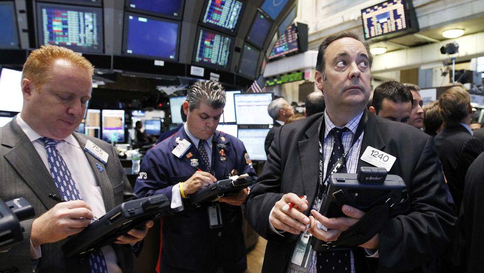 Börsenhändler an der Wall Street: Warten auf die Schockwellen aus Griechenland