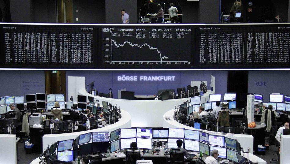 Börse in Frankfurt am Mittwoch: Absturz am späten Nachmittag