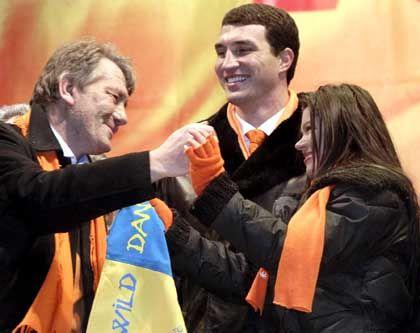 Juschtschenko, Klitschko, Ruslana: Volkshelden unter sich